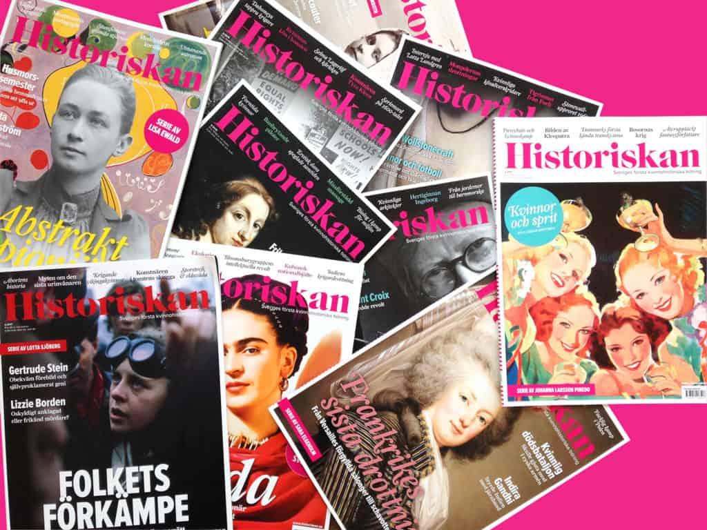 Historiskan tidningsomslag